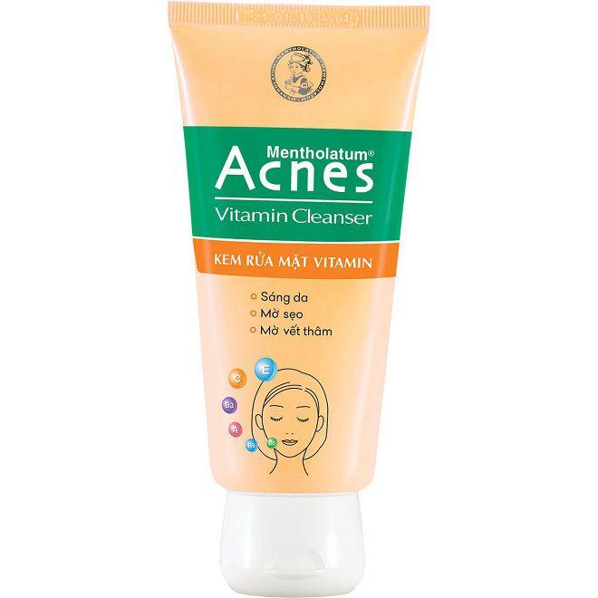 sua rua mat duong da Acnes Vitamin Cleanser