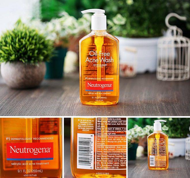 thiet ke cua sua rua mat Neutrogena Oil Free Acne Wash
