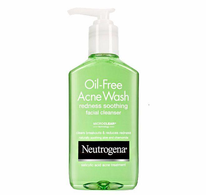 review sua rua mat Neutrogena Oil Free Acne Wash Redness Soothing