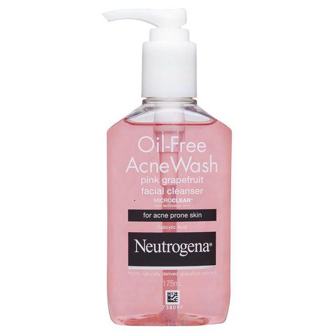 sua rua mat Neutrogena Oil Free Acne Wash Pink Grapefruit Facial Cleanser review