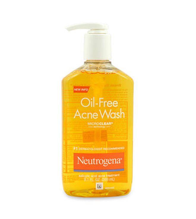 review sua rua mat Neutrogena Oil-Free Acne Wash MicroClear