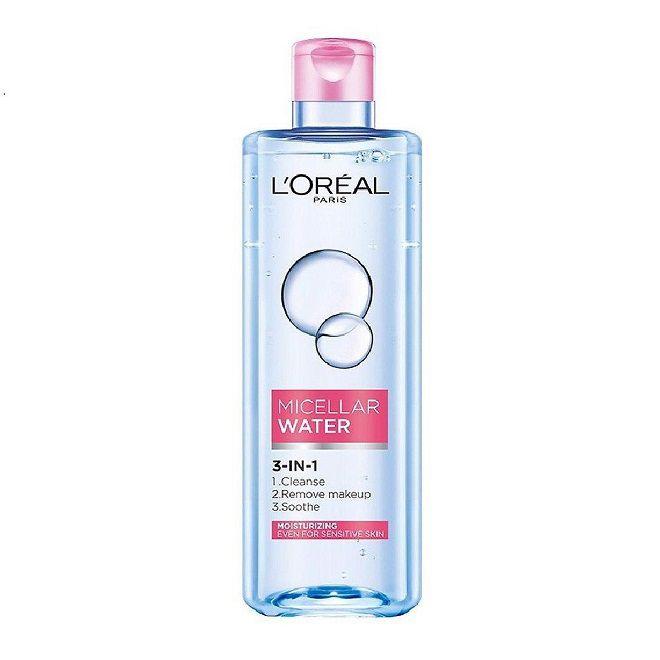 review nuoc tay trang L'Oreal Paris Micellar Water 3 In 1 Moisturizing