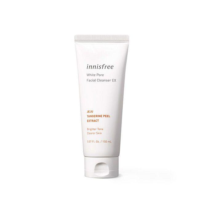 review sua rua mat lam trang da Innisfree White Pore Facial Cleanser